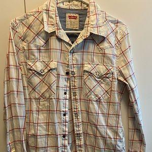 Levi's western long sleeve shirt